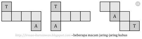 Celengan Jaring cara mudah menghitung volume dan luas sisi kubus ik