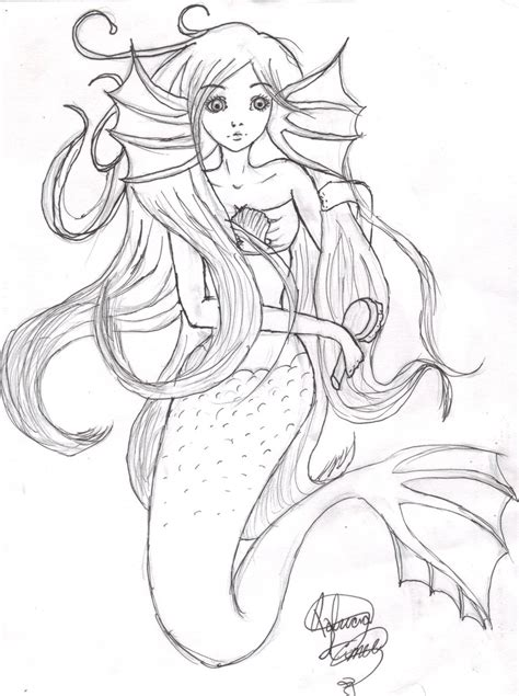 anime doodle characters mermaids and dragons coloring book volume 1 books mermaid by patimusiclover on deviantart