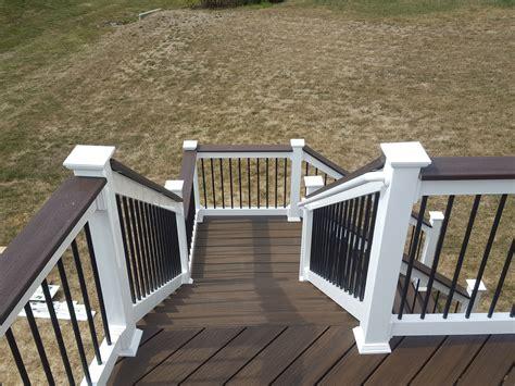 deck landing  steps american exteriors masonry