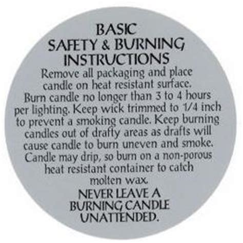 Candle Warning Labels Candle Burn Labels Jar Candle Burn Labels Votive Candle Burn Labels Votive Candle Labels Templates