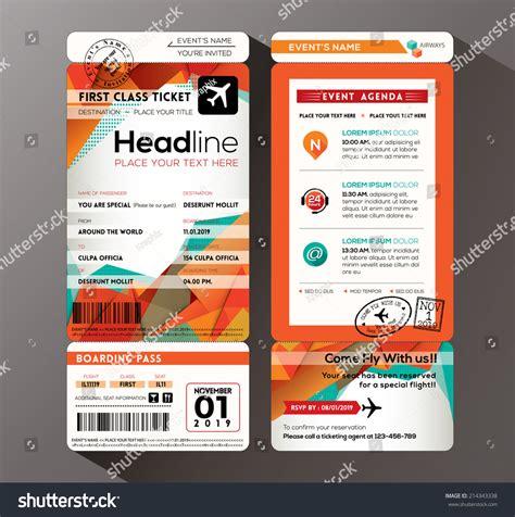 Modern Design Boarding Pass Ticket Event Stock Vector