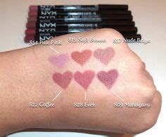 Soft Inspire Slim Matte Silky lipstick swatches tea cookies and nyx on