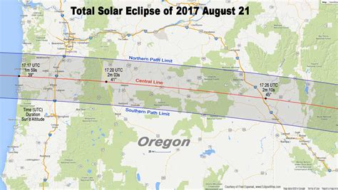 map of oregon total eclipse total eclipse of sun august 21 2017 astronomy