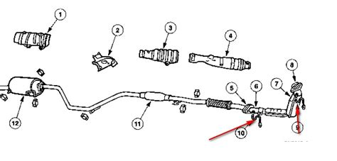 2004 ford taurus exhaust system diagram i need a diagram to find both the oxygen sensor on a ford