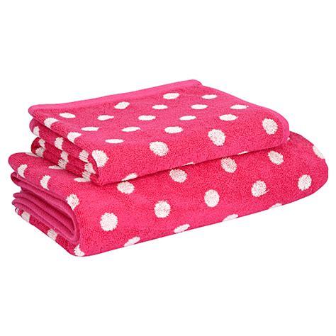 Bath Towels Asda Towel Range Fuschia Spot Towels Bath Mats Asda Direct
