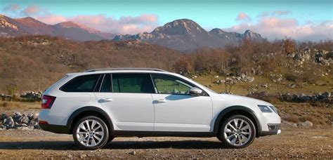 skoda releases 2017 octavia scout road driving footage