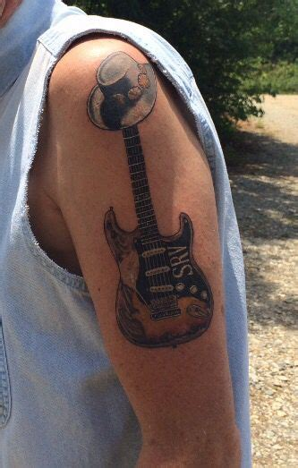 stevie ray vaughan tattoo stevie vaughan memorial srv guitar