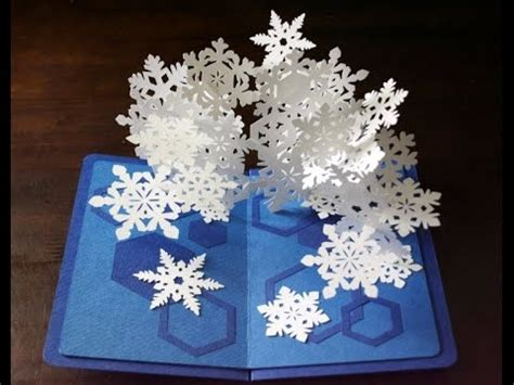 kagisippo pop up cards templates pop up card snowflakes2 スノーフレークのポップアップカード