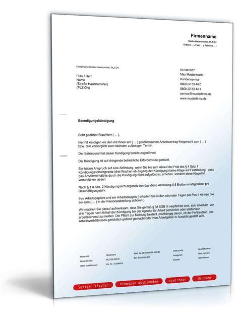 Word Vorlage Handyvertrag K Ndigen vorlage k 252 ndigung arbeitsvertrag durch arbeitgeber word
