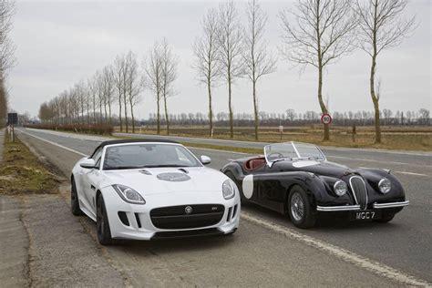 jaguar xk type jaguar f type hits 289km h to recreate xk 120 1953 record