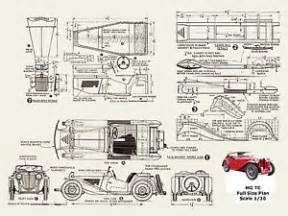 Car Plans Scale Model Car Plan Mg Tc Midget Instructions Amp Full Size