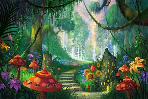 Alice In Wonderland Wall Murals enchanted woods images google search magical forest