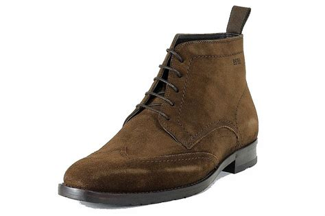 hugo s fashion ankle boots clelior brown suede