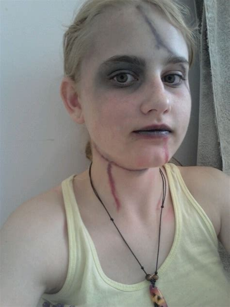 beaten updead person    create  face painting