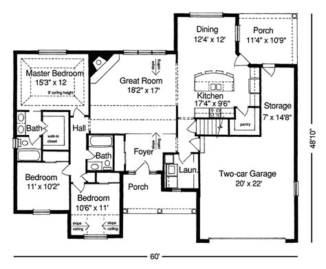 Inspiring Simple Ranch House Plans #7 Small Ranch House