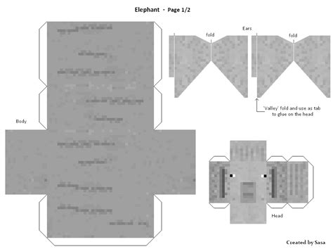 Papercraft Elephant - elephant paper craft template best elephant 2017