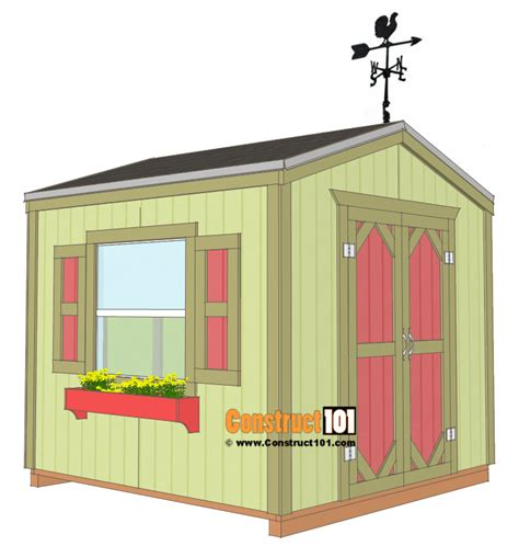 garden shed plans  step  step construct