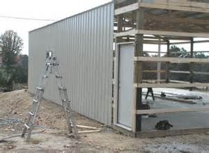 installing metal roof on pole barn how to build a pole barn shed roof nortwest woodworking
