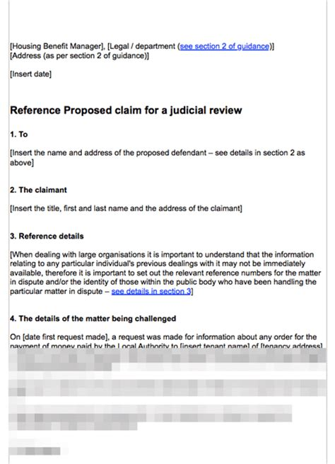 pre protocol letter template judicial review pre refusal to supply housing