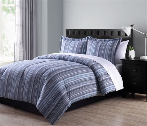 colormate microfiber comforter set textured stripe