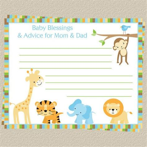 baby shower advice cards free template baby shower advice cards template free items similar to
