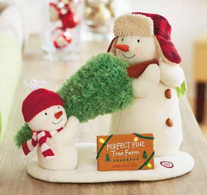 hallmark perfect tree snowman animated plush tabletopper