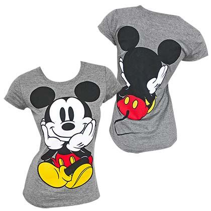 mickey mouse sided s grey tshirt for only 163 20 64 at merchandisingplaza uk