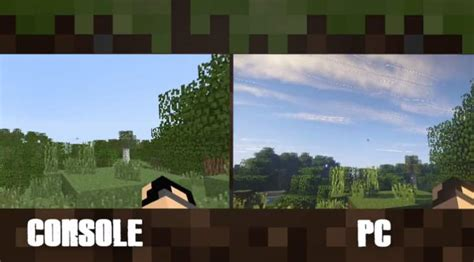 mods in minecraft for ps4 minecraft ps4 xbox one vs pc graphics still no contest