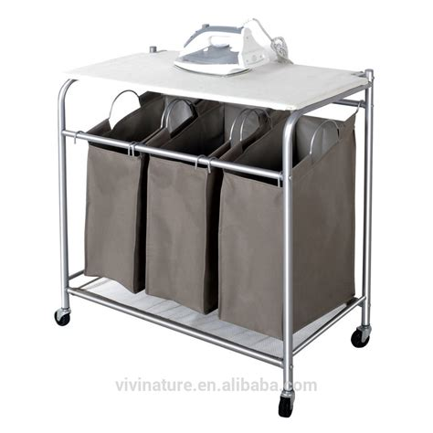 Vivinature Laundry Sorter With Foldable Ironing Board Laundry Separator
