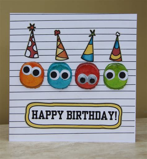 Handmade Happy Birthday - birthday cards punched the faces out