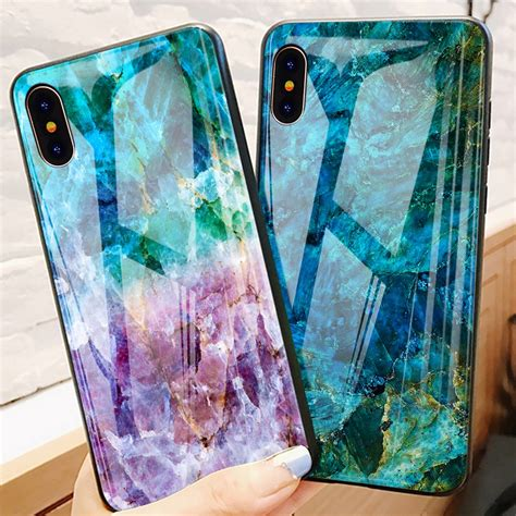 tomkas luxury marble phone case  iphone  xs max glass