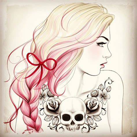 tattooed girl we heart it buscando sirenas en mares de arena dibujo tati ferring