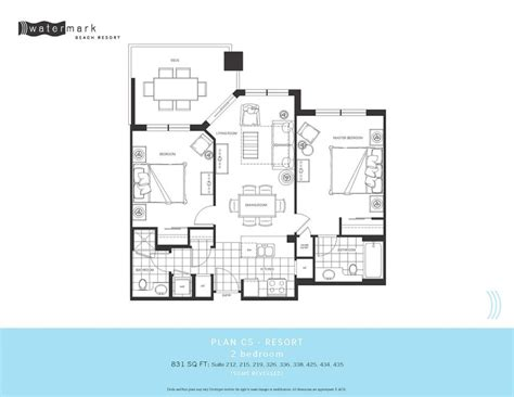 watermark floor plan watermark condos own watermark beach resort