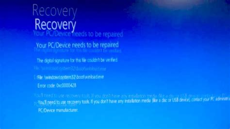 how to fix quot your pc device needs to be repaired quot error 0xc0000428 incorrect date