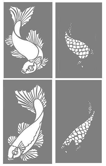 Silhouette Design Vorlagen Fish Stencils Koi Carp Stencil Interior Design 100 Stencil Patterns The Two