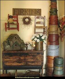 Rustic Primitive Home Decor primitive americana decorating ideas rustic colonial style decorating