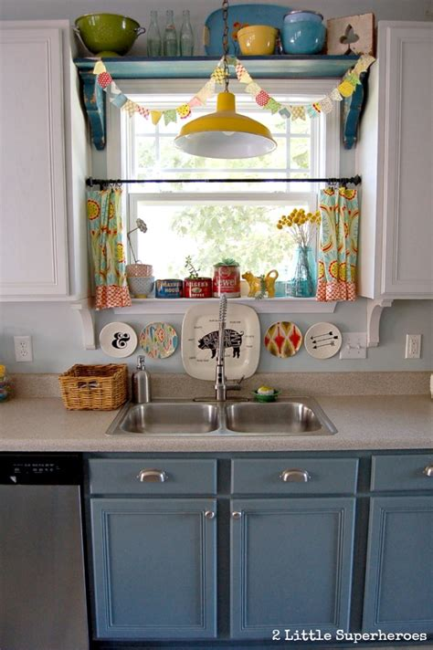 pastel yellow kitchen add a shelf above kitchen sink great way to add character