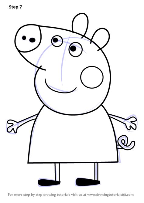 peppa pig drawing templates learn how to draw peppa pig from peppa pig peppa pig