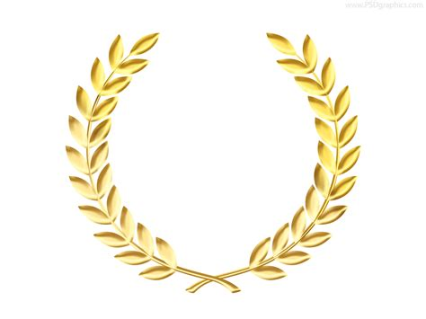 laurel leaf crown template gold laurel wreath medal template psd psdgraphics