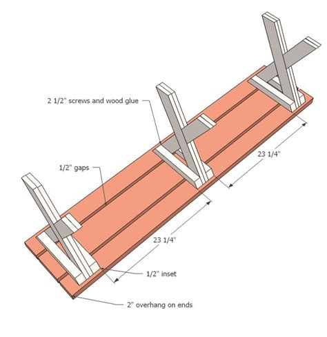 how to build picnic table bench best 25 x bench ideas on pinterest ana white bench