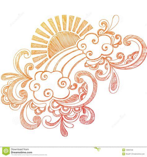 doodle how to summer sun sketchy notebook doodle royalty free stock