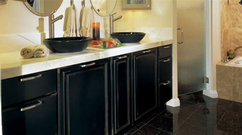 Black Bathroom Cabinet Black Bathroom Cabinets With Distressing Omega