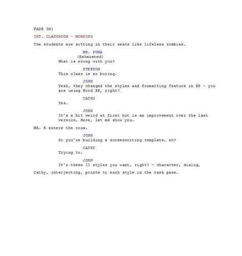 free script template 37 creative screenplay templates screenplay format