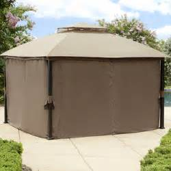 Gazebo With Privacy Curtains Garden Oasis Replacement Curtain For Privacy Gazebo Limited Availability Outdoor Living