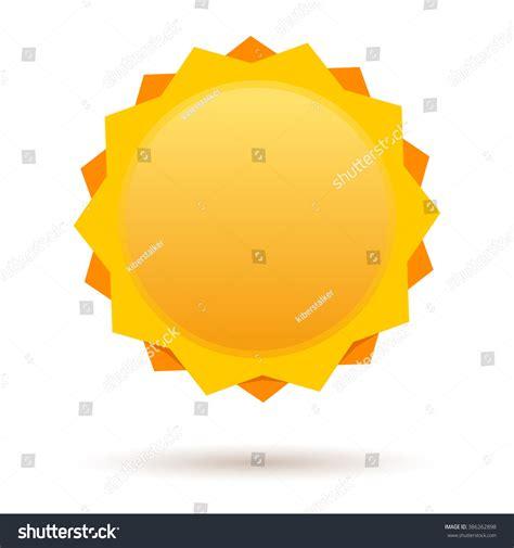 Cute Cartoon Sun Label Design Template Stock Vector 386262898 Shutterstock Sun Label Template