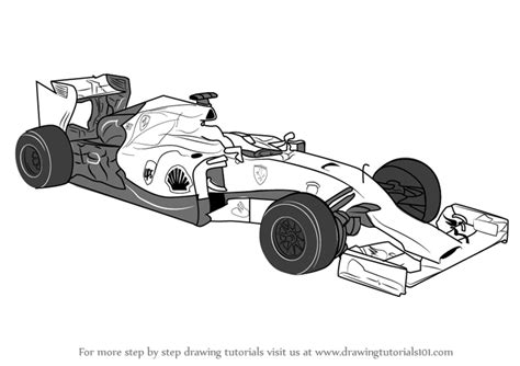 Formula 1 Sketches by Learn How To Draw F1 Car Sports Cars Step By Step