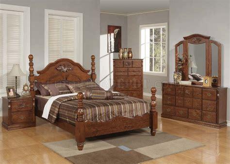 acme furniture bedroom set in walnut finish ac01720aset walnut finish bedroom by acme w half post bed options