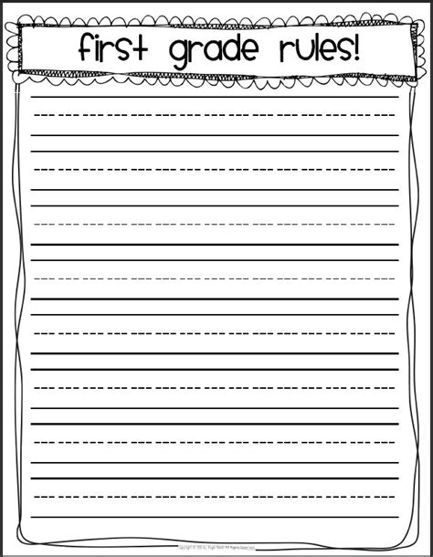 printable writing paper fourth grade 15 best images of long lined paper worksheets 4th grade