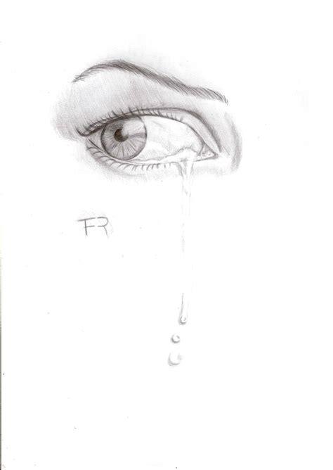 imagenes de ojos llorando a lapiz mi ojo llorando dibujo taringa