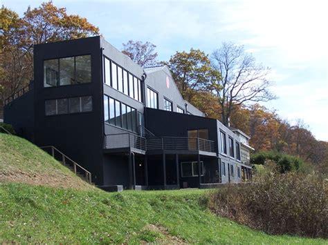House Knob by Abandoned Creepy Black House With Dot On Howard S